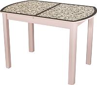 Обеденный стол Домотека Гамма ПО 04 (молочный дуб/ст-2) -