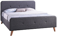 Двуспальная кровать Signal Malmo 140x200 (серый) -