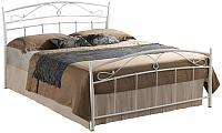 Двуспальная кровать Signal Siena 140x200 (белый) -