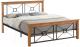 Двуспальная кровать Signal Soria 160x200 (дуб/черный) -