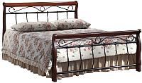 Двуспальная кровать Signal Venecja 2OS 140x200 (античная черешня) -