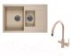 Мойка кухонная Granula GR-7802 + смеситель Spring 35-09/L (песок) -