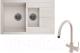 Мойка кухонная Granula GR-7802 + смеситель Spring 35-09/L (пирит) -