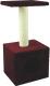 Домик с когтеточкой UrbanCat D72-01-07 (бордовый) -
