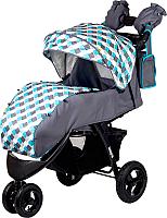 Детская прогулочная коляска Babyhit Voyage Air (серый/голубой) -