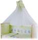 Балдахин на кроватку Баю-Бай Улыбка Б10-У3 (зеленый) -