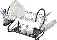 Сушилка для посуды Peterhof PH-12887 (черный) -
