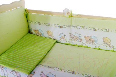 Комплект в кроватку Баю-Бай Мечта К70-М3 (зеленый)