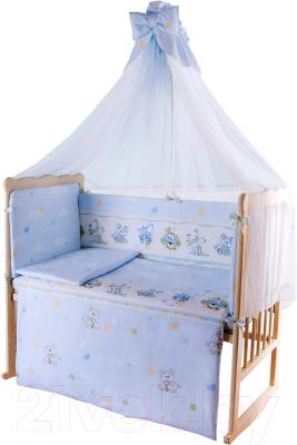 Комплект в кроватку Баю-Бай Улыбка К70-У4 (голубой)