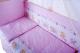 Комплект в кроватку Баю-Бай Мечта К31-М1 (розовый) -