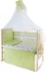 Комплект в кроватку Баю-Бай Мечта К80-М3 (зеленый) -