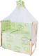 Комплект в кроватку Баю-Бай Нежность К80-Н3 (зеленый) -