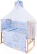 Комплект в кроватку Баю-Бай Нежность К80-Н4 (голубой) -