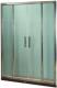 Стеклянная шторка для ванны Coliseum DS 266-150/256 (тонированное стекло) -