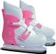 Коньки ледовые Sundays PW-219 (L, белый/розовый) -
