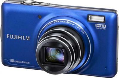 Компактный фотоаппарат Fujifilm FinePix T400 Blue - общий вид
