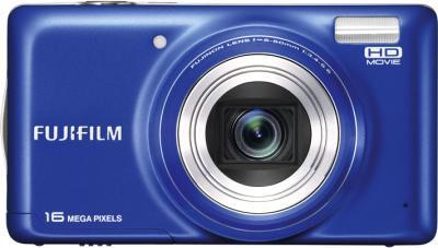 Компактный фотоаппарат Fujifilm FinePix T400 Blue - вид спереди