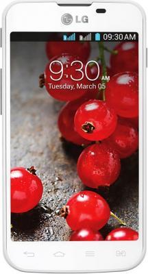 Смартфон LG E455 Optimus L5 II Dual White-Silver - вид спереди