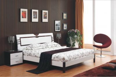 Двуспальная кровать Королевство сна Paola-004 160x200 (белый глянец/венге) - в интерьере