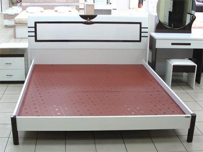 Двуспальная кровать Королевство сна Paola-004 160х200 (белый глянец с венге) - общий вид