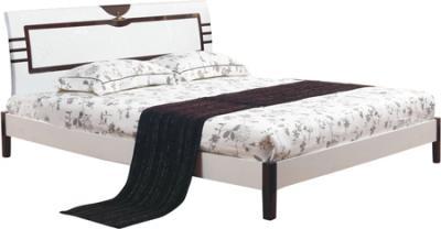 Двуспальная кровать Королевство сна Paola-004 160x200 (белый глянец/венге) - общий вид