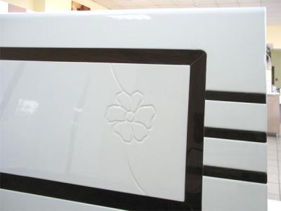 Двуспальная кровать Королевство сна Paola-004 180х200 (белый глянец с венге) - спинка