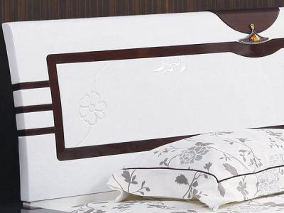 Двуспальная кровать Королевство сна Paola-004 180х200 (белый глянец с венге) - детальное изображение