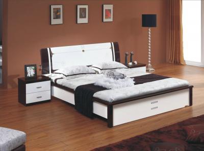 Кровать Королевство сна Paola-006 150x200 (белый глянец/венге) - в интерьере