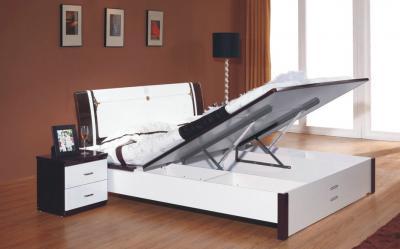 Кровать Королевство сна Paola-006 150x200 (белый глянец/венге) - общий вид