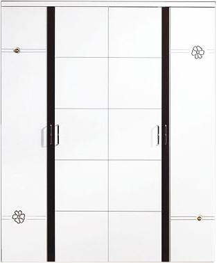 Шкаф Королевство сна Paola-003 (белый глянец с венге) - общий вид