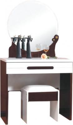 Туалетный столик с зеркалом Королевство сна Paola-002 (белый глянец с венге) - общий вид