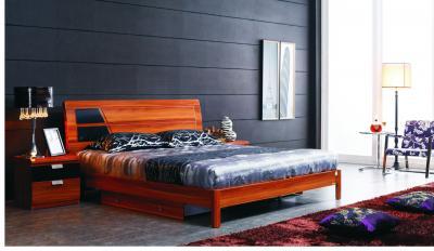 Двуспальная кровать Королевство сна Gabriella-003 160x200 коричнево-черная (с подъемным механизмом) - в интерьере