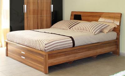 Двуспальная кровать Королевство сна Gabriella-003 160x200 коричнево-черная (с подъемным механизмом) - общий вид