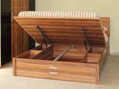Двуспальная кровать Королевство сна Gabriella-003 160x200 коричнево-черная (с подъемным механизмом) - подъемный механизм