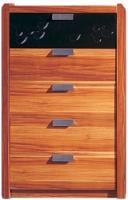Комод Королевство сна Gabriella-001 (коричневый с черным) -
