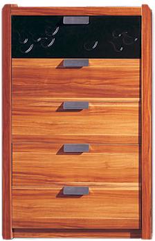Комод Королевство сна Gabriella-001 (коричневый с черным) - общий вид