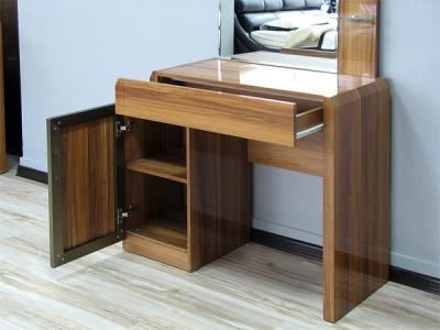 Туалетный столик с зеркалом Королевство сна Gabriella-002 (коричневый с черным) - полки