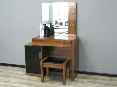 Туалетный столик с зеркалом Королевство сна Gabriella-002 (коричневый с черным) - в интерьере