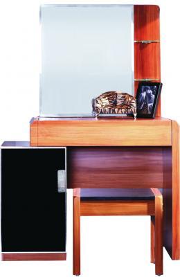 Туалетный столик с зеркалом Королевство сна Gabriella-002 (коричневый с черным) - общий вид