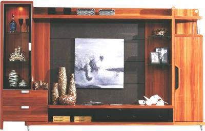 Стенка/горка Королевство сна Gabriella-002 (коричневая с черным) - общий вид