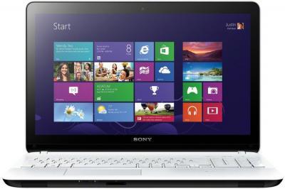 Ноутбук Sony Vaio SVF1521G2RW - фронтальный вид