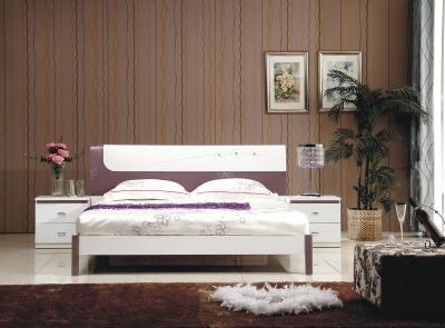 Двуспальная кровать Королевство сна Bellezza-001 160x200 сиреневая с белым (с основанием) - в интерьере