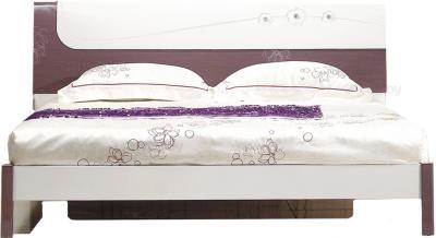 Двуспальная кровать Королевство сна Bellezza-001 160x200 сиреневая с белым (с подъемным механизмом) - общий вид