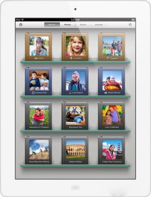 Планшет Apple iPad 4 128GB White (ME393TU/A) - фронтальный вид