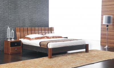 Двуспальная кровать Королевство сна Moderno-002 180x200 (коричневый/черный) - в интерьере