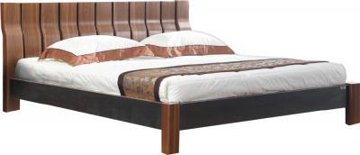 Двуспальная кровать Королевство сна Moderno-002 180x200 (коричневый/черный) - общий вид