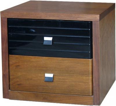 Прикроватная тумба Королевство сна Moderno-001 (коричневая с черным) - общий вид