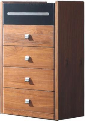 Комод Королевство сна Moderno-001 (коричневый с черным) - общий вид