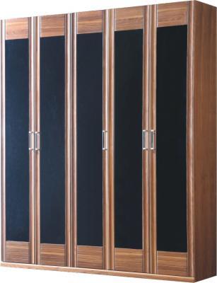 Шкаф Королевство сна Moderno-004 (коричневый с черным) - общий вид