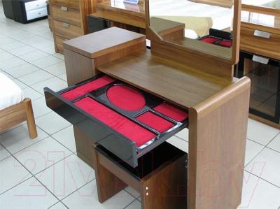 Туалетный столик с зеркалом Королевство сна Moderno-001 (коричневый с черным)
